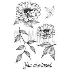 "49 & Market Clear Stamps 4""X6"" - Valerie's You Are Loved"